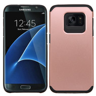 Hybrid Multi-Layer Armor Case for Samsung Galaxy S7 Edge - Rose Gold