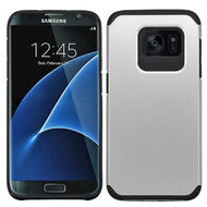 Hybrid Multi-Layer Armor Case for Samsung Galaxy S7 Edge - Silver