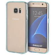 Glassy Transparent Gummy Cover for Samsung Galaxy S7 - Blue