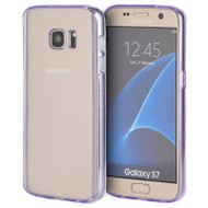 Glassy Transparent Gummy Cover for Samsung Galaxy S7 - Purple