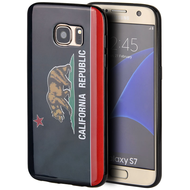 Graphic Rubberized Protective Gel Case for Samsung Galaxy S7 - California Black