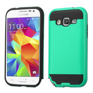 Brushed Hybrid Armor Case for Samsung Galaxy Core Prime / Prevail LTE - Green