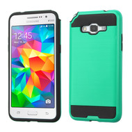 Brushed Hybrid Armor Case for Samsung Galaxy Grand Prime - Green