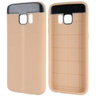 Anti-Slip Fusion TPU Case for Samsung Galaxy S7 - Gold