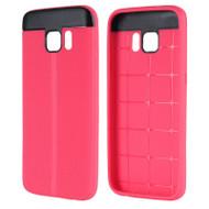 Anti-Slip Fusion TPU Case for Samsung Galaxy S7 - Hot Pink