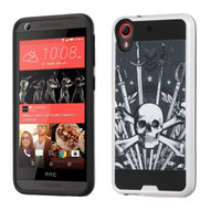 Brushed Graphic Hybrid Armor Case for HTC Desire 650 / 626 / 555 / 550 / 530 - Sword and Skull