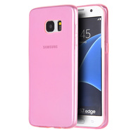 Rubberized Crystal Case for Samsung Galaxy S7 Edge - Hot Pink