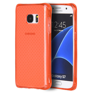 Atom Shockproof Crystal TPU Case for Samsung Galaxy S7 - Red