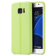 Slim Jacket TPU Case for Samsung Galaxy S7 Edge - Green