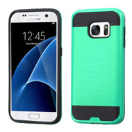 Brushed Hybrid Armor Case for Samsung Galaxy S7 - Teal
