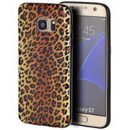 Graphic Rubberized Protective Gel Case for Samsung Galaxy S7 - Leopard