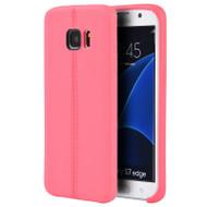 Slim Jacket TPU Case for Samsung Galaxy S7 Edge - Hot Pink