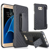 Kickstand Protective Case and Holster for Samsung Galaxy S7 Edge - Black