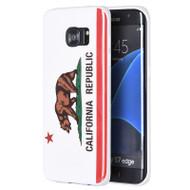 Graphic Rubberized Protective Gel Case for Samsung Galaxy S7 Edge - California White