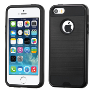 *SALE* Brushed Hybrid Armor Case for iPhone SE / 5S / 5 - Black