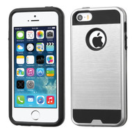 Brushed Hybrid Armor Case for iPhone SE / 5S / 5 - Silver
