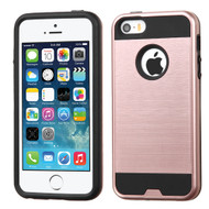 Brushed Hybrid Armor Case for iPhone SE / 5S / 5 - Rose Gold