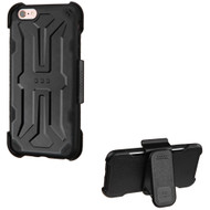 DefyR Hybrid Case with Holster for iPhone 6 Plus / 6S Plus - Black