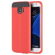 Anti-Slip Fusion TPU Case for Samsung Galaxy S7 Edge - Red