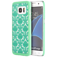 Lace Transparent Case for Samsung Galaxy S7 Edge - Green