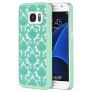 Lace Transparent Case for Samsung Galaxy S7 - Green