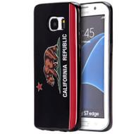 Graphic Rubberized Protective Gel Case for Samsung Galaxy S7 Edge - California Black