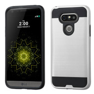 Brushed Hybrid Armor Case for LG G5 - Silver