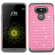 TotalDefense Diamond Hybrid Case for LG G5 - Pearl Pink Grey