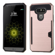 Card To Go Hybrid Case with Card Stand for LG G5 - Rose Gold