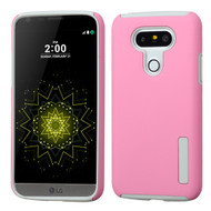 Pro Shield Hybrid Armor Case for LG G5 - Pink Grey