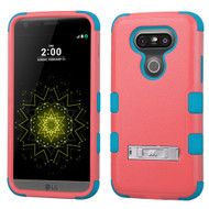 Military Grade Certified TUFF Hybrid Armor Case with Stand for LG G5 - Pink Teal