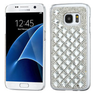 Desire Bling Bling Crystal Cover for Samsung Galaxy S7 - Diamond Silver