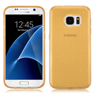 Perforated Transparent Cushion Gelli Case for Samsung Galaxy S7 - Gold