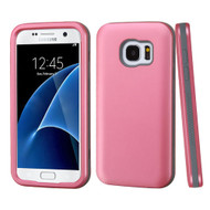 Verge Hybrid Armor Case for Samsung Galaxy S7 - Pearl Pink Grey