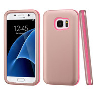 Verge Hybrid Armor Case for Samsung Galaxy S7 - Rose Gold Hot Pink
