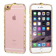 Aluminum Diamond Bumper Case for iPhone 6 Plus / 6S Plus - Purple Gold