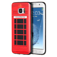 Graphic Rubberized Protective Gel Case for Samsung Galaxy S7 Edge - Telephone Booth