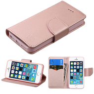 *SALE* Diary Leather Wallet Case for iPhone SE / 5S / 5 - Rose Gold