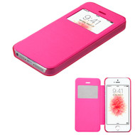 Book-Style Hybrid Case for iPhone SE / 5S / 5 - Hot Pink