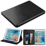 Book-Style Leather Folio Case for iPad Pro 9.7 inch - Black