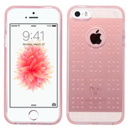 Perforated Transparent Cushion Gelli Case for iPhone SE / 5S / 5 - Rose Gold