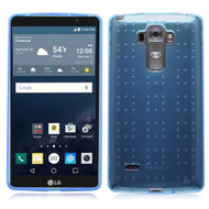Perforated Transparent Cushion Gelli Case for LG G Stylo / Vista 2 - Blue