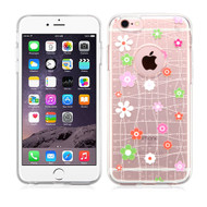 Premium Perforated Transparent Cushion Gelli Case for iPhone 6 Plus / 6S Plus - Tiny Blossoms