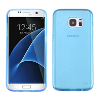 Perforated Transparent Cushion Gelli Case for Samsung Galaxy S7 Edge - Blue