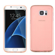 Perforated Transparent Cushion Gelli Case for Samsung Galaxy S7 Edge - Rose Gold