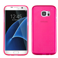 Perforated Transparent Cushion Gelli Case for Samsung Galaxy S7 Edge - Hot Pink