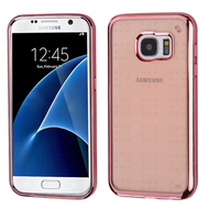 SPOTS Electroplated Premium Candy Skin Cover for Samsung Galaxy S7 - Rose Gold