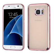 Electroplating Sparkling Frost TPU Case for Samsung Galaxy S7 - Rose Gold