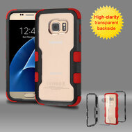 TUFF Vivid Hybrid Armor Case for Samsung Galaxy S7 - Black Red