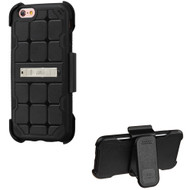 DefyR Hybrid Kickstand Case with Holster for iPhone 6 Plus / 6S Plus - Square Black